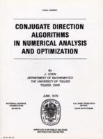 Conjugate Direction Algorithms In Numerical Analysis And Optimization