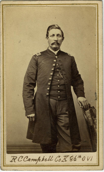 "Civil War item: Card Photograph: ""R. C. Campbell Co. K 86th OVI"""