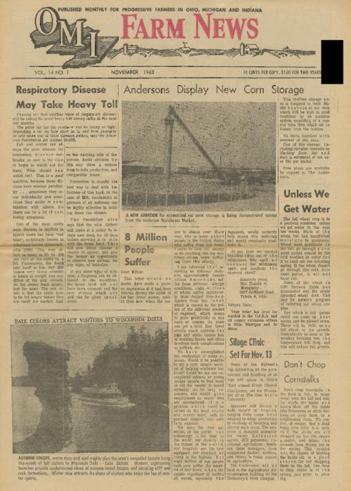 OMI Farm News, November 1963 (front page only)
