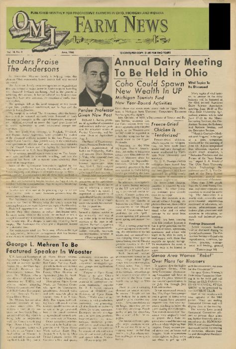OMI Farm News, June 1968 (front page only)