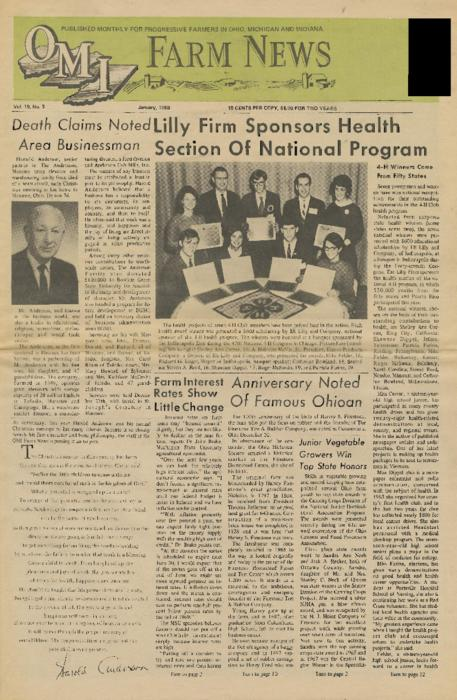 OMI Farm News, January 1969 (front page only)