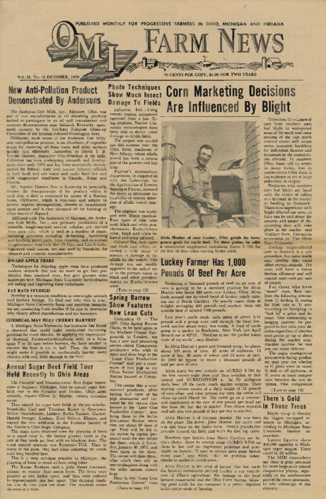OMI Farm News, October 1970 (front page only)