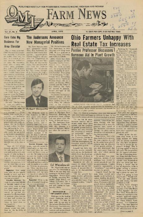 OMI Farm News, April 1970 (front page only)