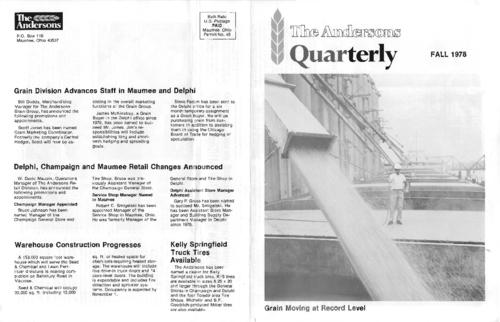 The Fall 1978 issue of the Anderson Herald
