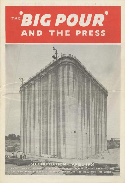 "The second, compiled edition to the October 1953 issue of ""The Big Pour.""  The articles for this issue were selected from several local and national newspapers."