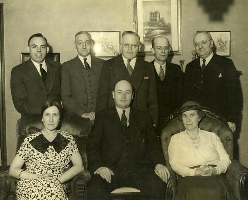 Photograph of a banquet held by the Committee on Relations with Toledo, Spain, 1931