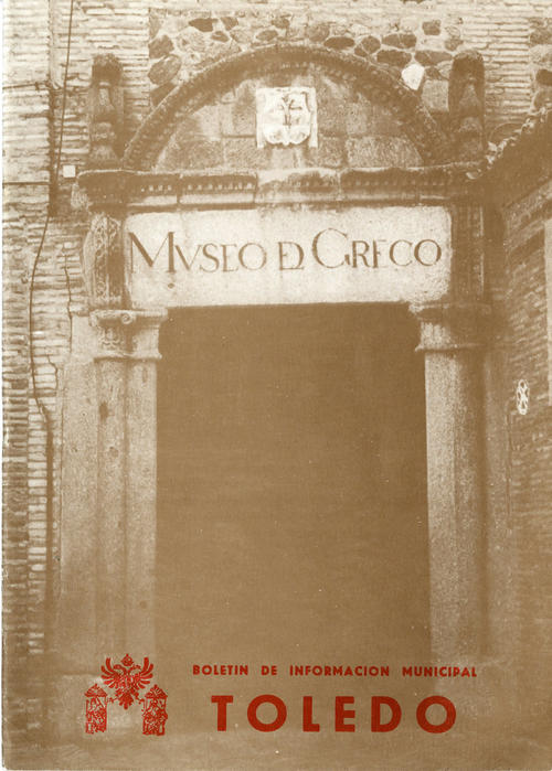 "Cover of the ""Boletin de Informacion Municipal"" showing the entrance to Museo El Greco"