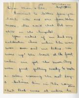William Barlow letter, September 19, 1945