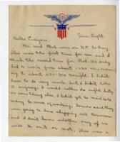 William Barlow letter, 1944