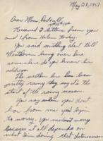 Leo Barlow letter, May 28, 1951