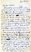Leo Barlow Letter, January 22, 1951