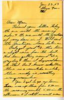 Leo Barlow Letter, January 22, 1953