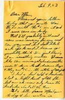 Leo Barlow Letter, February 9, 1953