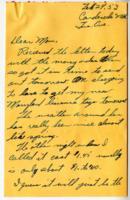 Leo Barlow Letter, February 24, 1953