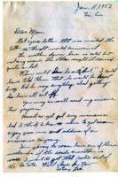 Leo Barlow Letter, January 11, 1952