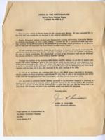 Chaplain's letter