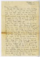 William Barlow letter, May 29, 1945