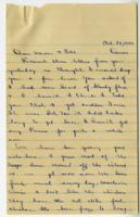 William Barlow letter, October 28, 1945