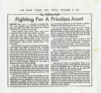 "Toledo Blade article ""Fighting for a Priceless Asset"""
