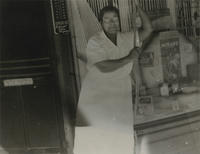 Ella P. Stewart in her pharmacy