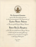 Johnson Inauguration Invitation/Program