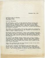 Letter to John F. Kennedy