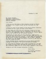 Letter to Reuther