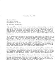 Letters to President Johnson