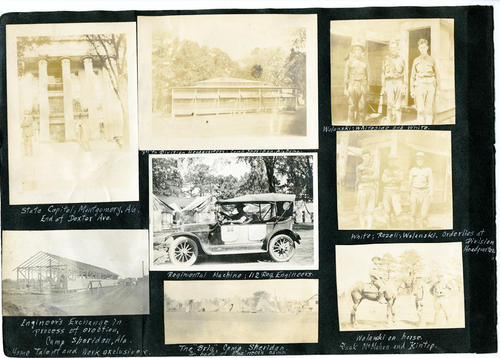 Photo album: Car and photos of Herbert White with his friends.