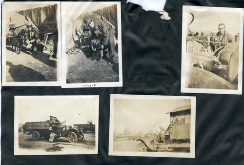 Photo album: Herbert White photos in First World War with English Bul Dogs