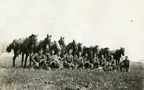 Company A mounted section