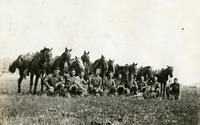 Photograph: Company A mounted section