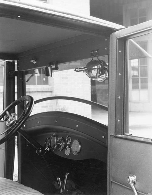 Mounted driving light that improved visibility for drivers, 1925.