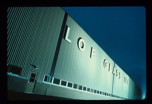 Slide showing the LOF Glass Inc Plant