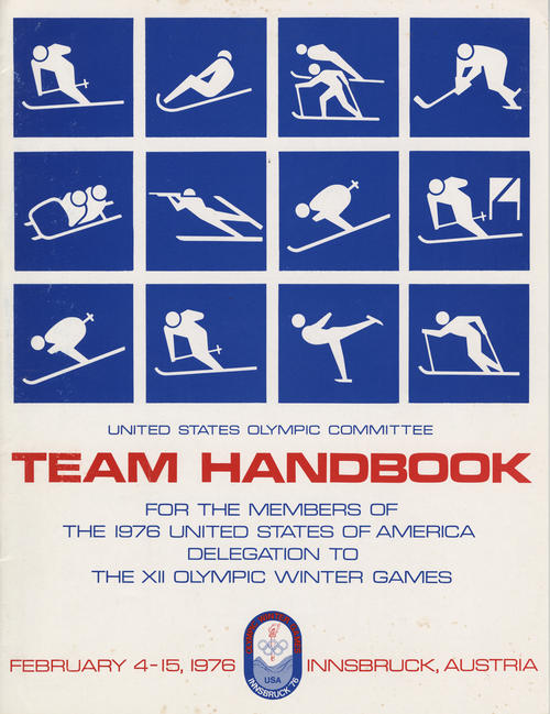Handbook for members of the US delegation to the Olympic Winter Games in Innsbruck, Austria in 1976