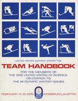 USOC Team Handbook for XII Olympic Winter Games, 1976