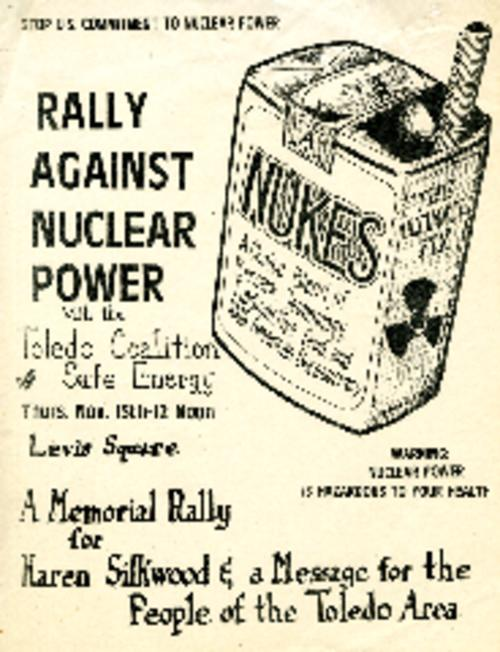 Flyer protesting the use of nuclear power