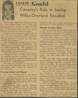 """Canaday's Role in Saving Willys-Overland Recalled"""