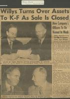 """Willys Turns Over Assets To K-F As Sale Is Closed"" (Toledo Blade, April 28, 1953)"