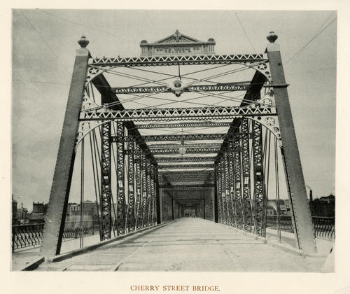 Cherry Street Bridge. Smith Bridge Co. Toledo, O. Steel Bridge which was moved to Ash St.