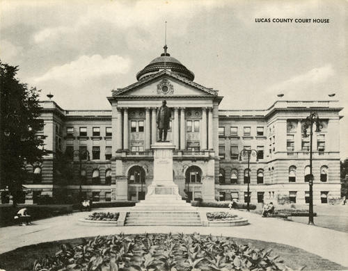 Lucas County Court House. Jumbo postcard of the court house.