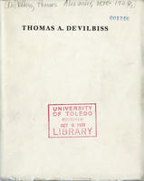 Thomas A. DeVilbiss (cover only)