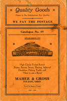 Maher and Grosh Catalogue (cover only)