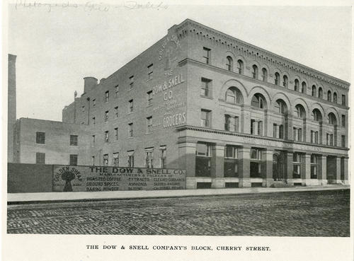 The Dow and Snell Company's block Cherry Street. The Dow and Snell Company's Block Cherry Street