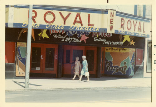 Royal Theatre July 1968. Historic theatre in Toledo, Ohio