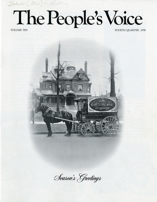 The People's Voice Volume Ten, Fourth Quarter 1978. Season's Greetings. The Holiday issue of The People's Voice.