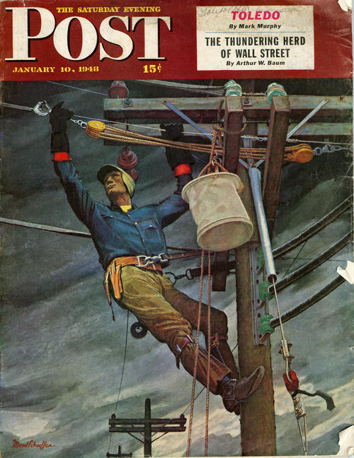The Saturday Evening Post, January 10, 1948  15 cents. This magazine has Toledo as the cover and head story.