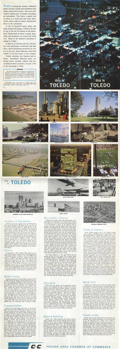 This is Toledo. Pamphlet that highlights Toledo's selling points through text and images.