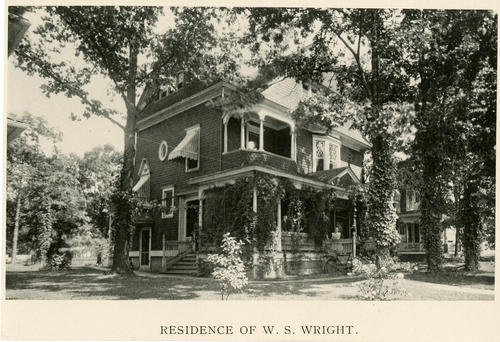 Residence of W.S. Wright. 326 Kenilworth. Wm. S. Wright Pres Lucas Co. Savings Bank Sec. Toledo Plow