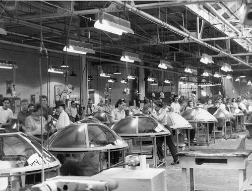 Assembly line at the B-29 Plate Plant
